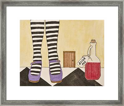 Drink Me Framed Print by Sean Mitchell