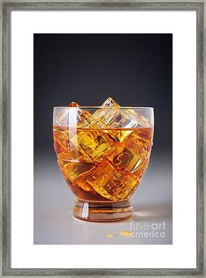 Drink On Ice Framed Print by Carlos Caetano