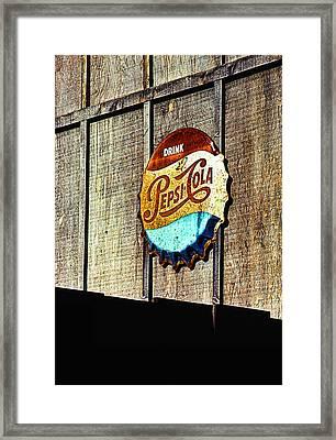 Drink Pepsi Cola Framed Print by Ron Regalado