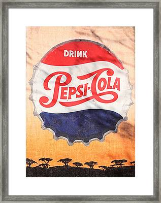 Drink Pepsi  Framed Print by Donna Kennedy