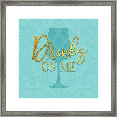 Drinks On Me Framed Print by Amy Cummings