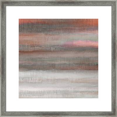 Dripscape 7 - 3 Framed Print by Cora Niele