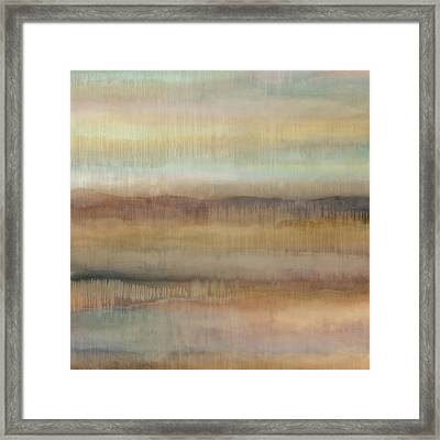 Dripscape V Framed Print by Cora Niele