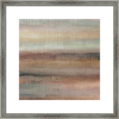 Dripscape V - Warm Framed Print by Cora Niele