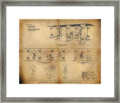 Drive Assembly Platform Framed Print by James Christopher Hill