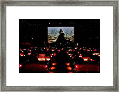 Drive-in Monster Movie Framed Print by Benjamin Yeager