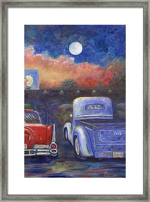 Drive-in Movie Part Two Framed Print by Linda Mears