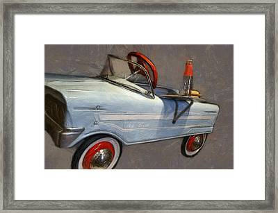 Drive In Pedal Car Framed Print by Michelle Calkins