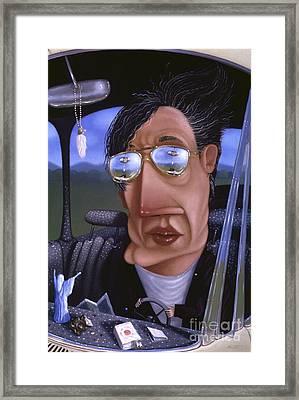 Driving 1995 Framed Print by Larry Preston
