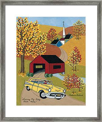 Driving My Baby Back Home Framed Print by Medana Gabbard