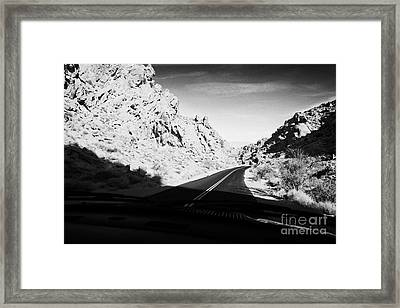 Driving Through Canyons On The White Domes Road Scenic Drive Valley Of Fire State Park Nevada Usa Framed Print by Joe Fox