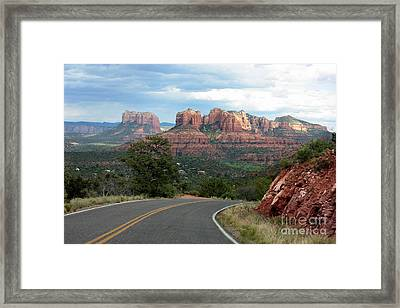 Driving To Sedona Framed Print by Carol Groenen