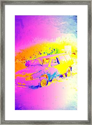 If I'm Driving Wild, I'm Driving Wild In Pastel  Framed Print by Hilde Widerberg