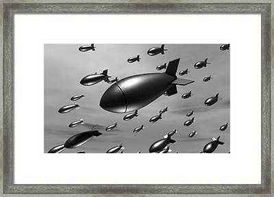 Dropping Bombs Framed Print by Allan Swart