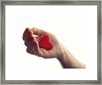 Dropping Heart Framed Print by Sinisa Botas