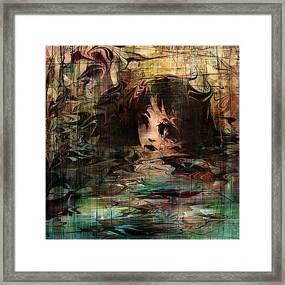 Drowned In Her Tears Framed Print by Rachel Christine Nowicki