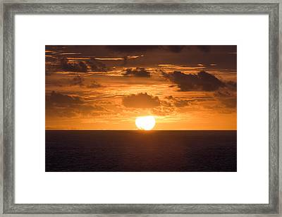 Drowning Sun Framed Print by Ocean Photos