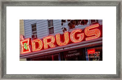 Drugs Framed Print by Olivier Le Queinec