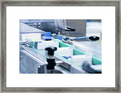 Drugs Production Framed Print by Gombert, Sigrid