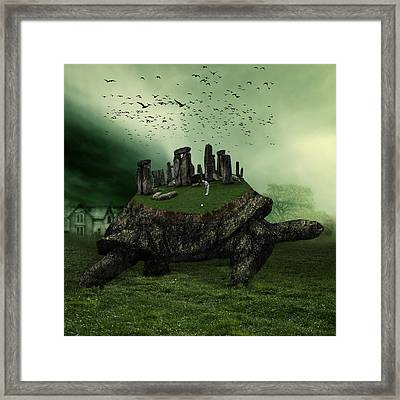 Digital Manipulation Framed Print featuring the digital art Druid Golf by Marian Voicu