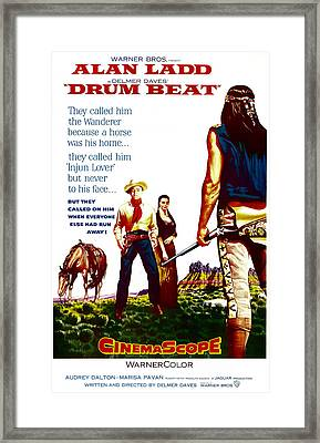 Drum Beat, Us Poster, Center From Left Framed Print by Everett