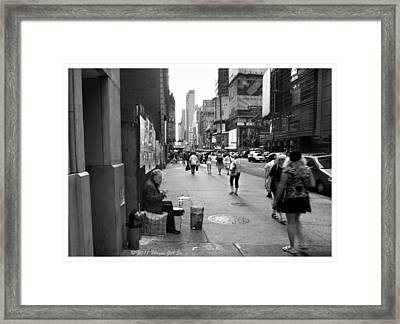 Drum For Change Framed Print by Wayne Gill