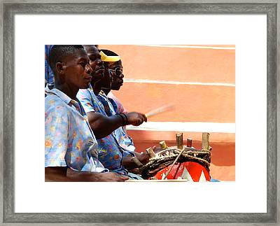 Drummers Labadee Haiti Framed Print by David Coleman