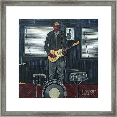 Drums And Wires Framed Print by Sandra Marie Adams
