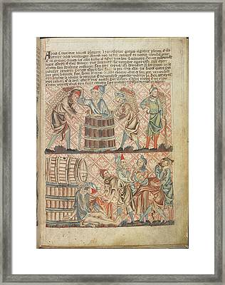 Drunkeness Of Noah Framed Print by British Library