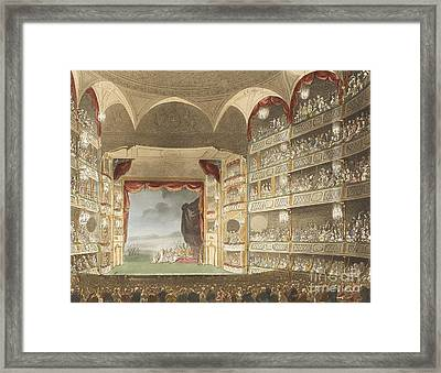Drury Lane Theatre, 1808 Framed Print by British Library