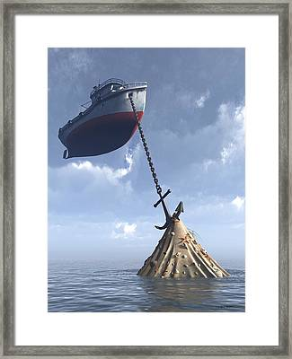 Dry Dock Framed Print by Cynthia Decker