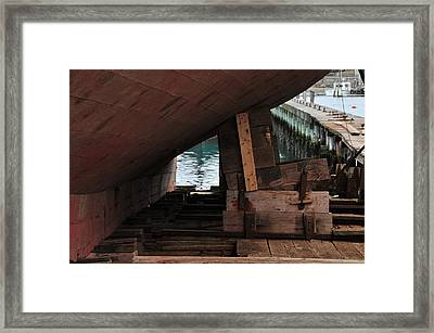 Dry-dock Framed Print by Mike Martin