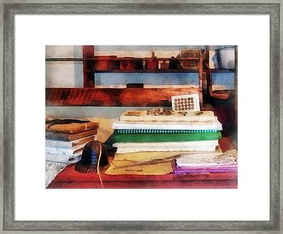 Dry Goods For Sale Framed Print by Susan Savad