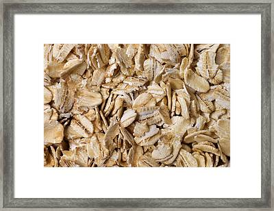 Dry Oatmeal Flakes Framed Print by Donald  Erickson