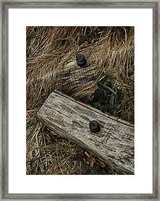 Dry Wave Framed Print by Odd Jeppesen