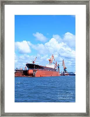 Drydock At Gothenburg 05 Framed Print by Antony McAulay