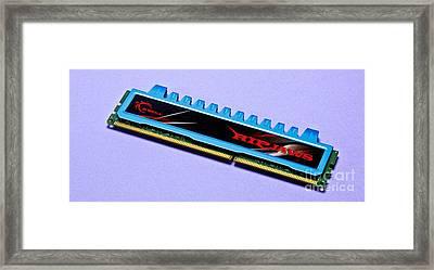 Dual In-line Memory Module Framed Print by Martyn F. Chillmaid