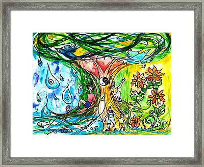 Dual Nature Framed Print by Genevieve Esson