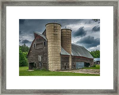 Dual Silos Framed Print by Paul Freidlund