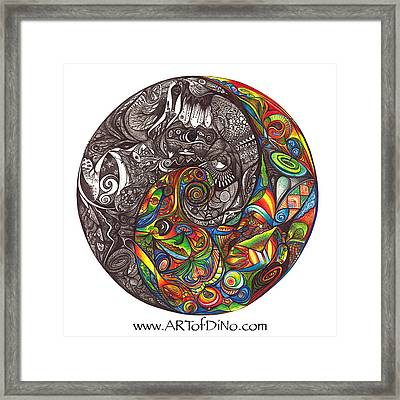 Duality Framed Print by diNo