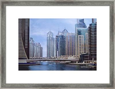 Dubai Marina Framed Print by Jelena Jovanovic