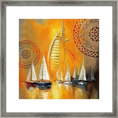 Dubai Symbolism Framed Print by Corporate Art Task Force