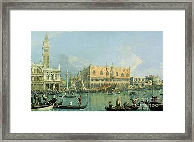 Ducal Palace   Venice Framed Print by Canaletto