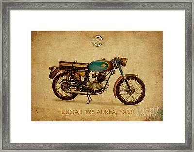 Ducati 125 Aurea 1958 Framed Print by Pablo Franchi