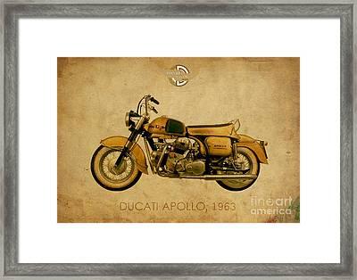 Ducati Apollo 1963 Framed Print by Pablo Franchi
