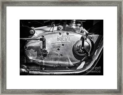 Ducati Desmo Engine Casing  Framed Print by Tim Gainey