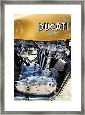 Ducati Desmo Mk 3 450cc Framed Print by Tim Gainey