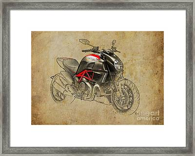 Ducati Diavel Carbon 2011 Framed Print by Pablo Franchi