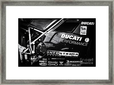Ducati Performance Framed Print by Tim Gainey