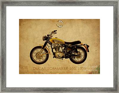Ducati Scrambler 350 1970 Framed Print by Pablo Franchi